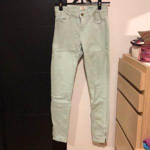 Zara zipped jeans